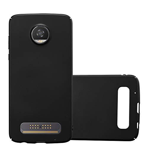 Cadorabo Hülle für Motorola Moto Z2 Play in Metall SCHWARZ – Hardcase Handyhülle aus Plastik gegen Kratzer & Stöße – Schutzhülle Bumper Ultra Slim Back Hülle Hard Cover
