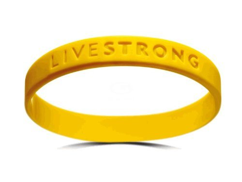 Official Live Strong Lance Armstrong Yellow Cancer LiveSTRONG Rubber Wristband...