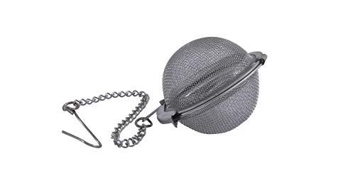 Metaltex 253811 - Filtro de te, Acero Inoxidable con Cadena, 4.5 centimetros