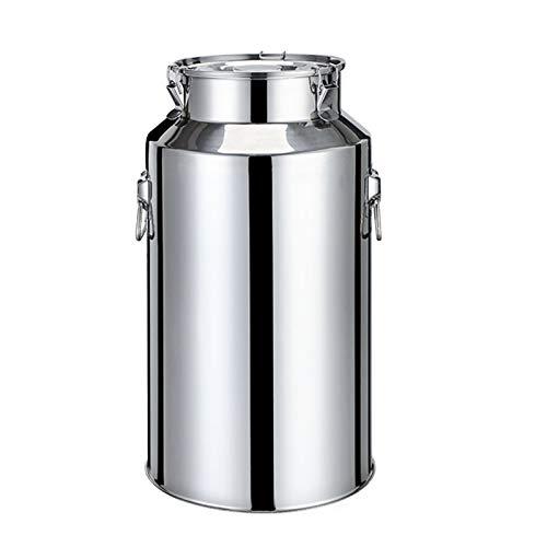 Oven Lata de Leche de Cubo Sellada de Acero Inoxidable, Cerveza de Vino Fermentadora, Barril de Agua de Arroz de Aceite de Leche de Almacenamiento (tamaño : 35L)