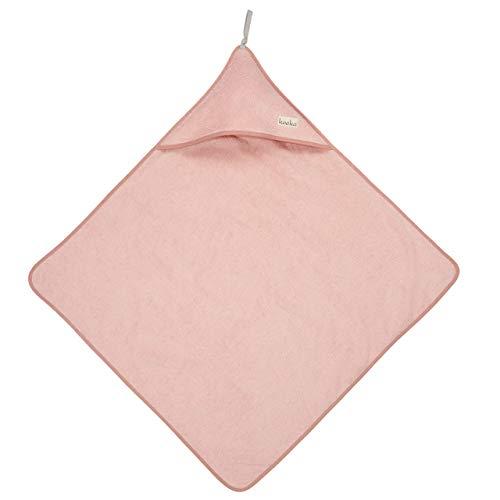Koeka Baby Badetuch Mit Kapuze - Kapuzenbadetuch - Kapuzenhandtuch - Für Jungen Und Mädchen - Dijon Organic - Schlingenfestem Bio-Frottee Stoff - Pink - Einheitsgröße