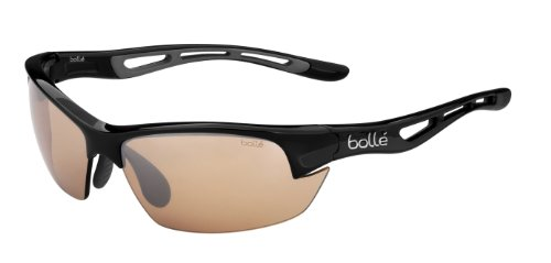 Bolle Bolt S Photo V3 Golf Sunglasses, Shiny Black