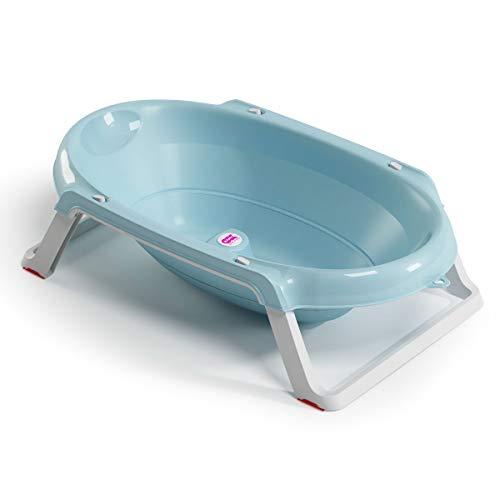 OKBABY Onda Slim - Baignoire Pliante pour le Bain des Nouveau-nés 0-12 Mois - Bleu Translucide