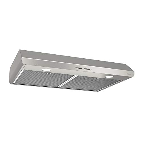 Broan-NuTone BKSH130SS Sahale Range Hood with Light and EZ1 Installation Brackets, 30-Inch, Stainless Steel