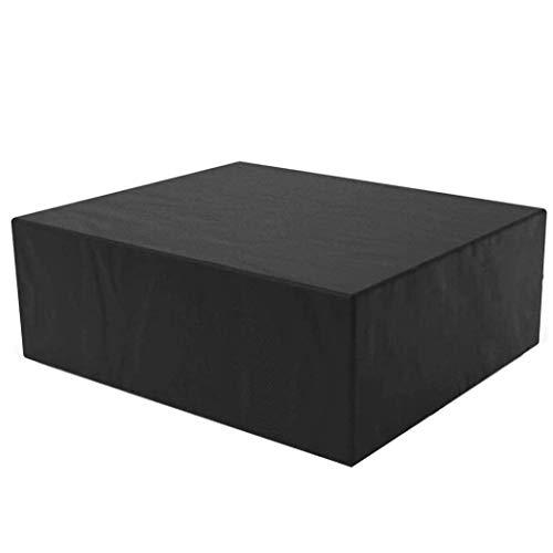 SEESEE.U Fundas para Muebles de jardín Impermeables 80x80x160cm, Funda para Muebles de Patio, Lona Impermeable, protección Solar, protección Exterior, 28 tamaños, Color Negro