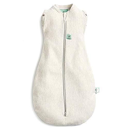 ergoPouch Cocoon, Schlafsack Baby, Pucksack Baby, Strampelsack, Wärmereguliering - Tog 2.5 - weiß - 0-3 Monate