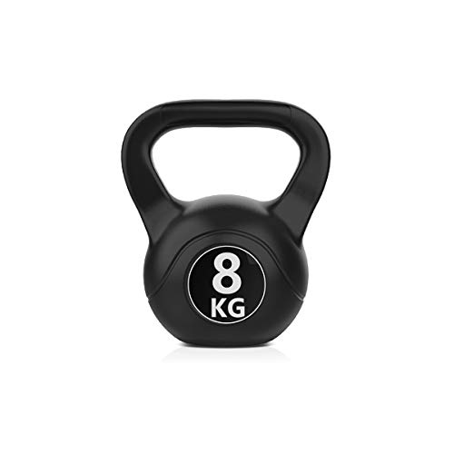 Joly Home Pesa Rusa o Pesa Kettlebell 6kg, 8kg, 10kg, Ideal para Ejercicios y Entrenamientos de musculación o Crosstraining. Entrenamiento del Cuerpo, Musculatura, Pesas (8)