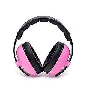 Noise Cancelling Headphones Baby Earmuffs Adjustable Infant Hearing Protection for 3M to 2+ Years Toddler for Sleeping Airplane Concerts Theater Fireworks - Pink