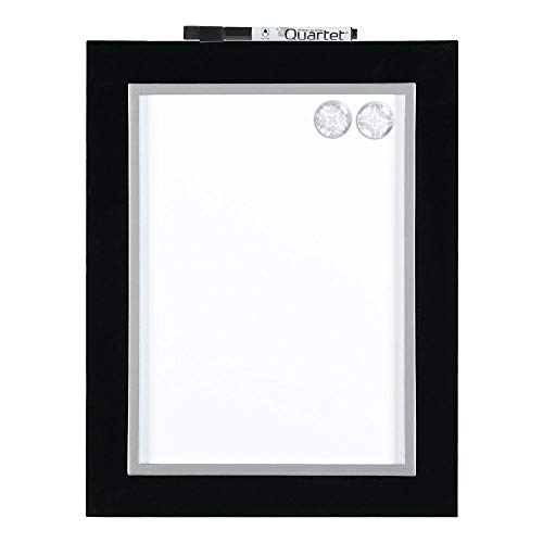 Quartet Magnetic Dry-Erase Board, 8-1/2' x 11' Whiteboard, Home Organization, Black/Silver Frame (50726)