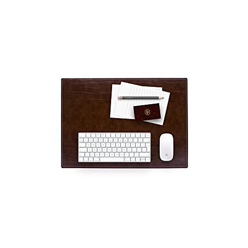 Schreibtischunterlage und Laptopmatte aus Leder handgefertigt - 50x35 cm - Made In Italy |...