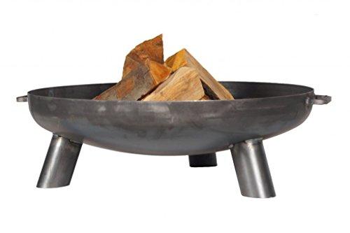 FARMCOOK Feuerschale PAN-37 Stahl unbehandelt in drei Größen (Ø 60 cm H 22 cm)