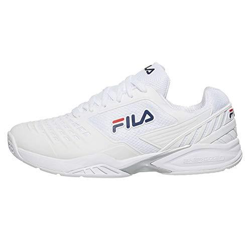 FILA Men's Axilus 2 Energized Tennis Shoe (White/White/FILA Navy, 10)