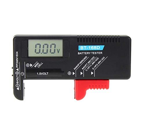 Hycy Universal Digital LCD AA/AAA / C/D / 9 V / 1,5 V Knopfzellenbatterie Volt Tester BT-168D