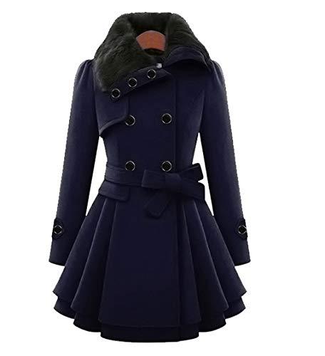 MJGkhiy Wasserfester Mantel - Fleecejacke Damen mit Kapuze Outdoor Tasche Fleecejacke Lang Warm Herbst Plüschjacke Flauschig