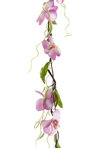 Unbekannt künstliche Orchideen Phalaenopsis Girlande (Creme-rosa)