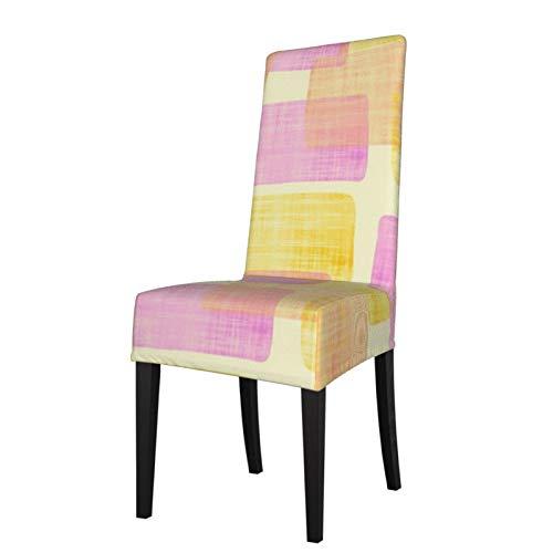 2 fundas elásticas para silla para comedor, diseño de rectángulos, lavables, para decoración de Navidad, ceremonia, banquetes, bodas, fiestas, comedores.