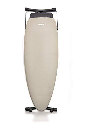 NAWA Home & Work Tabla de Planchar Premium, Superficie de Planchado 130 x 47 cm Forma Ovalada para Centro de Planchado o Convencional