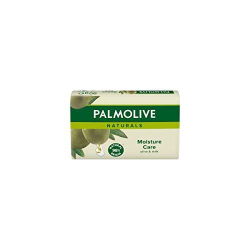 Palmolive Stückseife Naturals Olive, 90 g - Seife entfernt Bakterien wirksam aber schonend, milde Formel