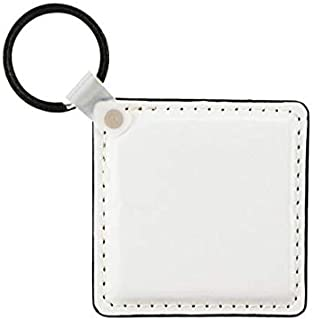 10 Pack Leather Keychain Sublimation Blank White Heat Transfer (Square)