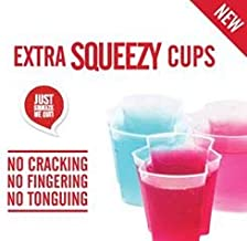 50 EZ-Squeeze Jello Shot Cups with Lids - 2 oz. Max Capacity- New and Improved Design