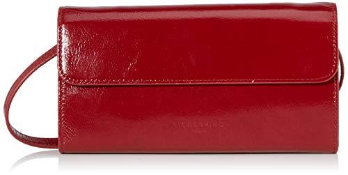 Liebeskind Berlin Damen Glossy Slg - Samantha Crossbody Small Umhängetasche, Rot (Dahlia Red), 3x13x23 cm