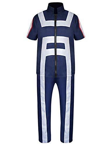 Duoyi EU My Hero Academia Cosplay Anzug Anime Boku No Hero Academia Gymnastik Uniformen Midoriya Izuku Kostüm Trainingsanzug Sportswear Marine Small