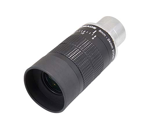 Meade Instruments 07199-2 Series 4000 8 to 24-Millimeter 1.25-Inch Zoom Eyepiece,Black