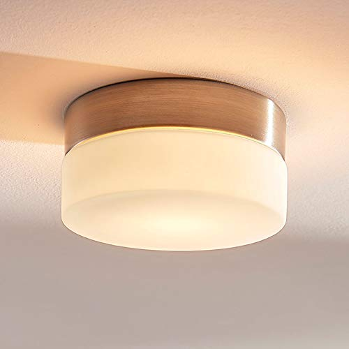 Lampenwelt Deckenlampe 'Amilia' dimmbar (spritzwassergeschützt) (Modern) in Weiß aus Metall u.a. für Badezimmer (1 flammig, G9, A++) - Bad Deckenleuchte, Lampe, Badezimmerleuchte