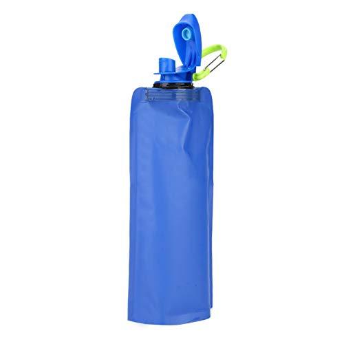 Qirg Botella de Agua Flexible, Botella de Agua Plegable, Senderismo Que acampa Plegable 650ML para el Ciclismo Deportivo