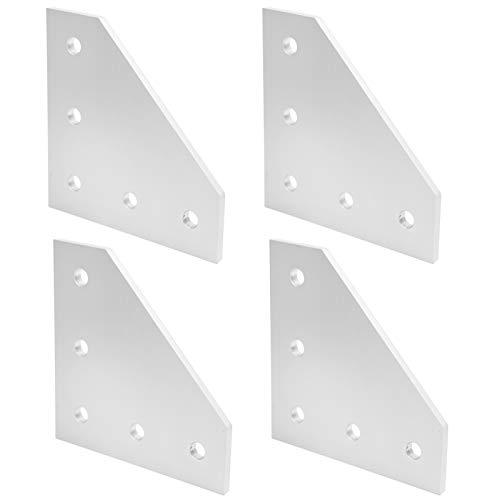 Práctica placa de unión de 5 orificios, 4 piezas de aleación de aluminio, placa de unión de plata, placa de unión exterior, para impresora 3D para la industria(Type 4040L)