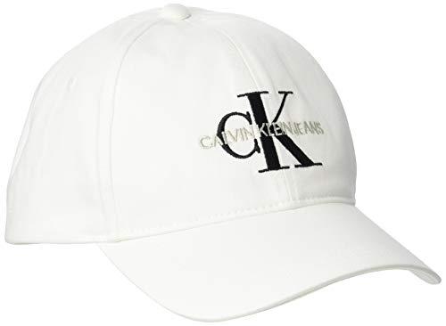 Calvin Klein Jeans Damen Ckj Monogram Baseball Cap, Weiß (Bright White Yaf), One Size (Herstellergröße: OS)