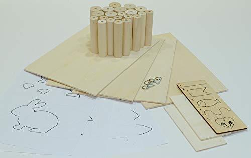 Materialpaket Drechseln + Sägen, PLAYmake/UNIMAT (Drechselholz, Pappelsperrholz)