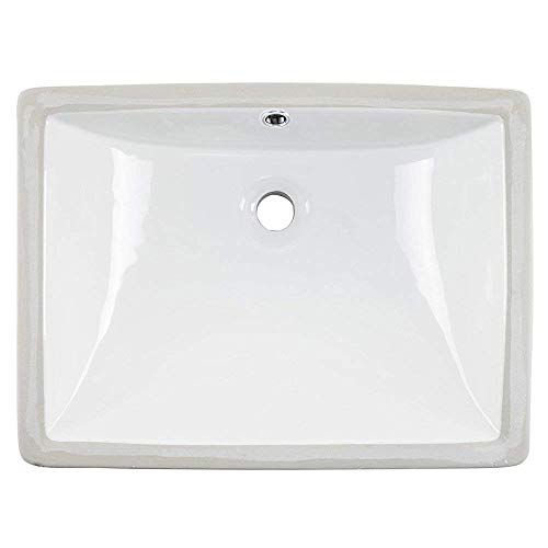 Review Of Friho 18.5''x13.8''x7.9'' Modern Sleek Rectangular Undermount Vanity Sink Porcelain Cerami...