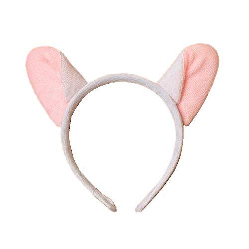 Weiß und Rosa Maus Ohren Kostüm Haar Alice Band Stirnband