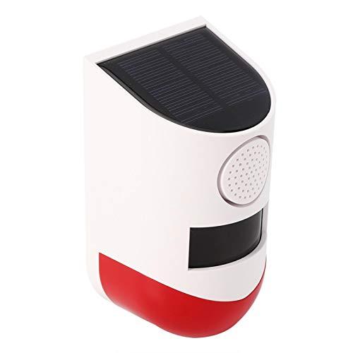 SALUTUYA Sirena de Alarma Solar identificación automática Sensor infrarrojo térmico inalámbrico Fácil de Instalar