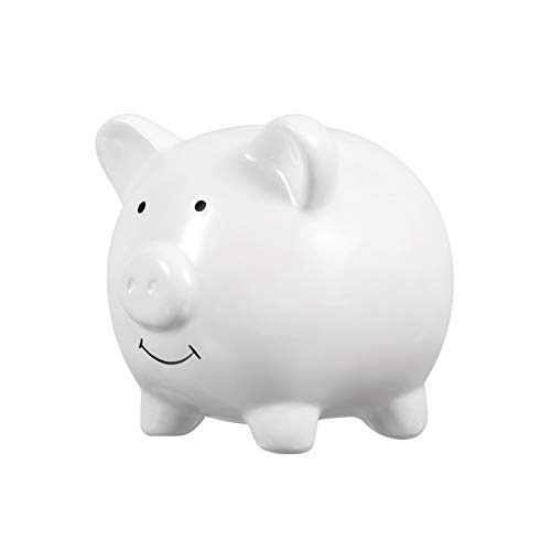 VICASKY Alcancía de Cerámica Cerdo Lindo Banco de Monedas Gran Banco de Dinero Personalizado para Niños Niñas Cerdito de Cerámica Hucha Caja de Dinero Ahorro de Monedas Banco para Niños