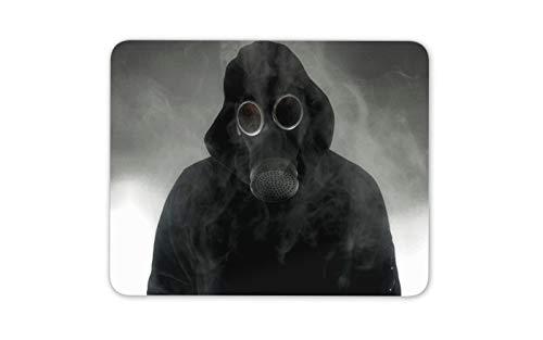 Capucha individuo en una máscara de gas tapete de ratones Cojín - De miedo de regalos Computer espeluznantes frescos # 14546
