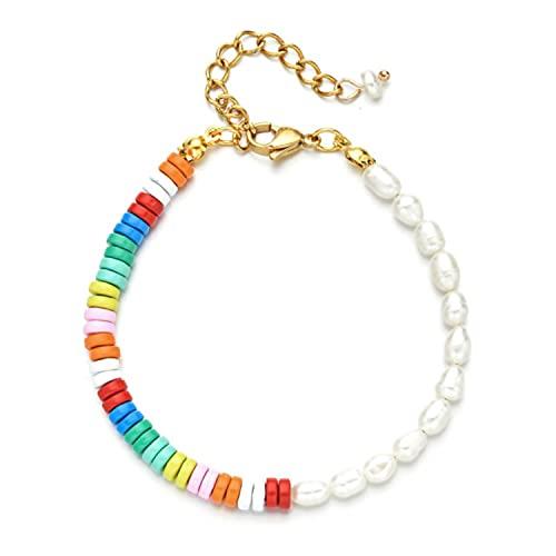 New Pulseras Boho Bracelet Ethnic Style Female Bracelets for Women Girls Woven Color Series Rainbow Beads Beaded Jewelry