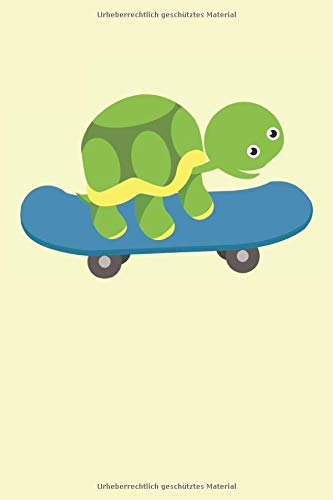 Schildkröte Skateboard Kinder: Skateboarder Cartoon Schildkröte Geschenke Notizbuch liniert (A5 Format, 15,24 x 22,86 cm, 120 Seiten)