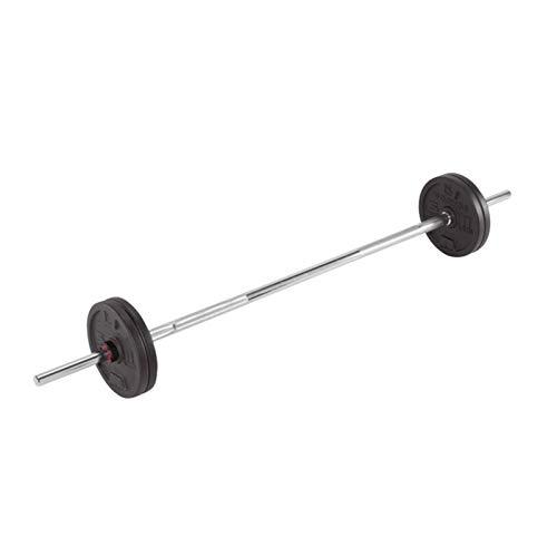 Placa de contrapeso Conjunto de barra con mancuernas ajustable, conjunto de discos de PowerLifting de entrenamiento de 50 kg, 2 en 1 kit de placas de pesas de barra con mancuernas for oficina / gimnas