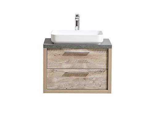 Badezimmer Badmöbel Indiana 70 cm Nature Wood - Unterschrank Schrank Waschbecken