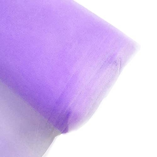 Craft And Party, 54' by 40 Yards (120 ft) Fabric Tulle Bolt for Wedding and Decoration (Lavender)