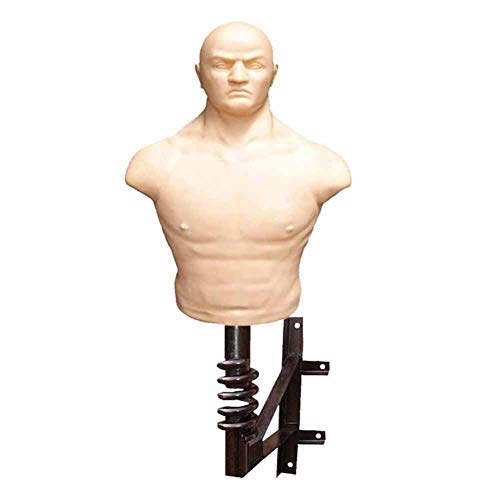 RGLZY Boxing Punching Bag Dummy with Wall Bracket, Sparring Body Opponent Bag Martial Arts Equipment for Man Women Kids