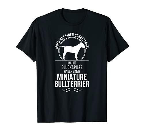 Miniature Bullterrier Schutzengel Hunde T-Shirt Hund Shirt