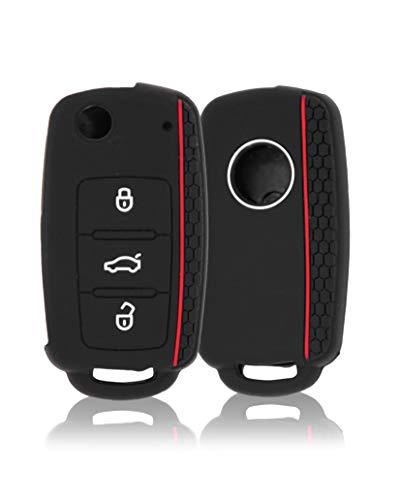 CONKOR Schlüsselhülle - Silikon-Hülle für Autoschlüssel, passend für VW, Skoda, Seat - Effektiver Schutz, Auto-Liebhaber - Auto-Zubehör, Tuning, Gadgets
