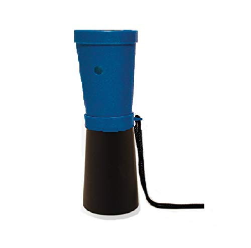 Storus SuperHorn | Breath Powered Horn Noise Maker | for Safety, Boating, Camping, Hiking, Sports, Parties, Rallies | Compact + Lightweight | Blue + Black