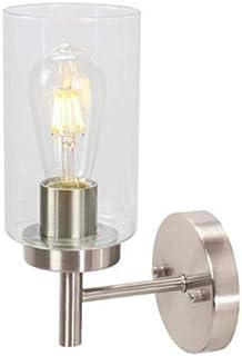 Asvert Lámpara de Pared Vintage 60W Aplique de Pared Industrial E27 Lámpara vintage de iluminación Vidrio para Dormitorio, Pasillo, Escaleras, No incluye Bombilla(Plata)