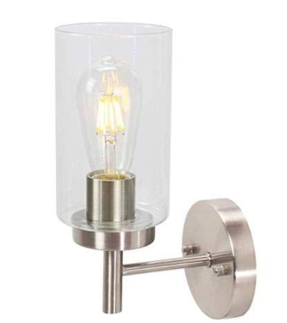 Asvert Lámpara de Pared Vintage 40W Aplique de Pared interior E27 lampara nordica rusticos para Dormitorio, Pasillo, Escaleras, No incluye Bombilla(Plata)