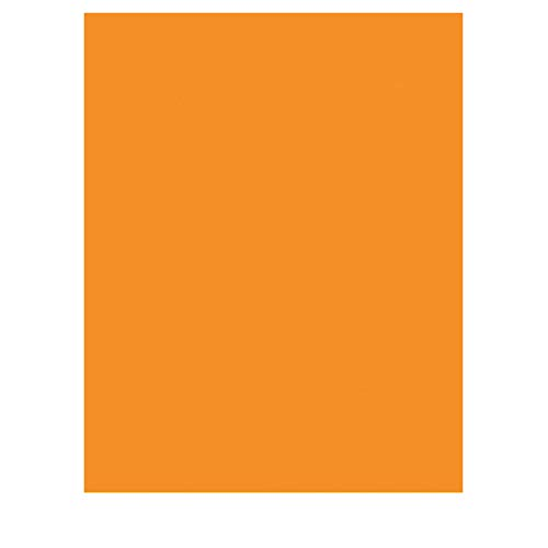 trendmarkt24 Tonkarton Orange 50 x 70 cm, 10 Blatt 220g/m² Schulpapier Kinder-Garten-Papier Bastelpapier Bastelkarton Tonpapier farbig 50x70 cm   220 g/qm Einfarbig auf beiden Seiten   2217