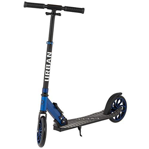 Mad Wheels, Urban Scooter, Monopatini Costruzione Leggera in Alluminio, Sistema di Chiusura Rapida, Ruote da 200 mm per Bambini e Adulti, Max 100 kg